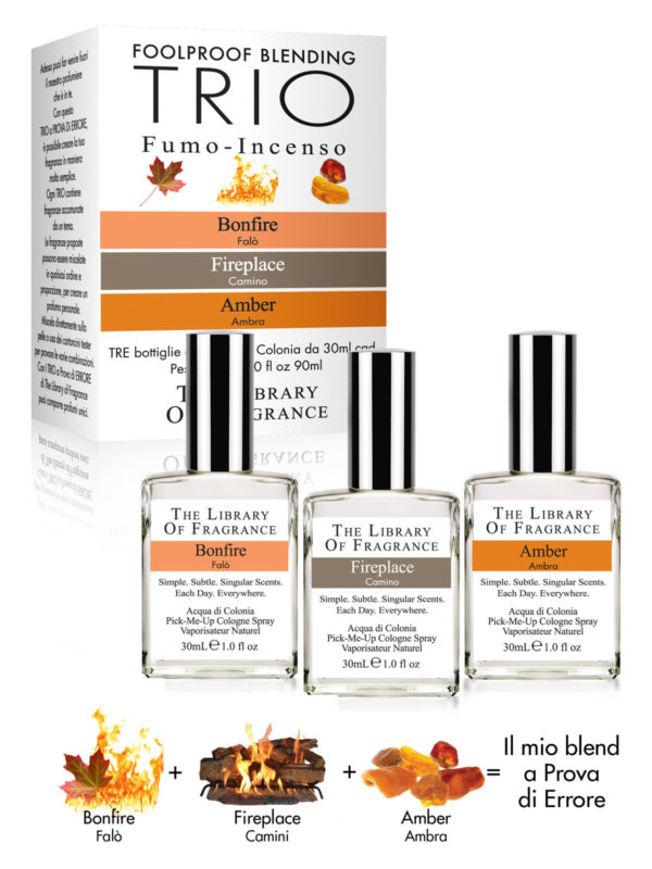 Trio Fumée Encens PARFUM THE LIBRARY OF FRAGRANCE